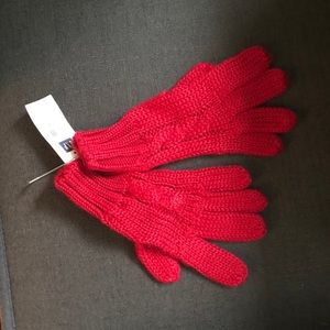 GAP Red knit gloves